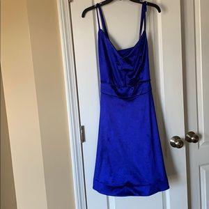 Blue Plus Size Homecoming Dress